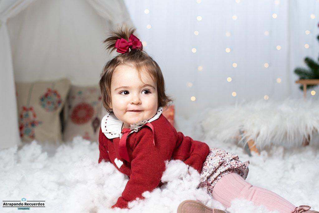 Foto infantil en una sesion de navidad en Bilbao