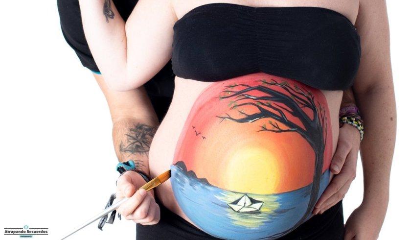 pintar barriga embarazada