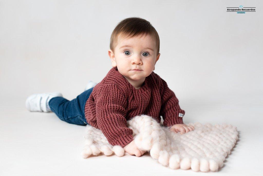 Sesión de fotos de bebé estudio Bilbao