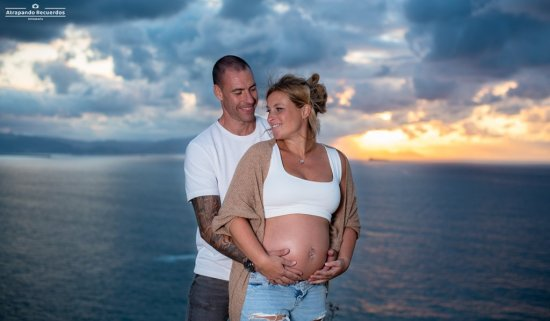 sesion de fotos embarazo en exterior