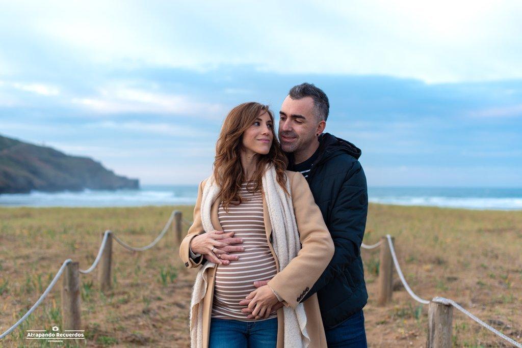 fotografia embarazo pareja bilbao