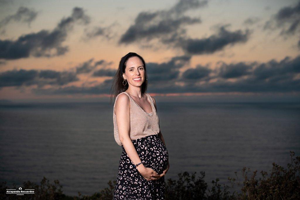 Fotografia embarazada atardecer bilbao