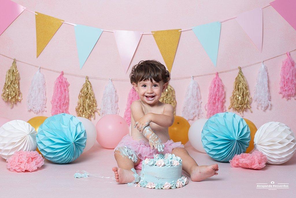 fotografia smash cake basauri