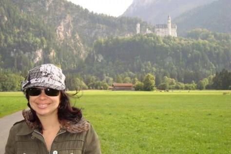 Neuschwanstein ao fundo, vista maravilhosa