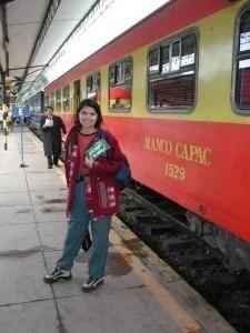 Pegando o trem de Cuzco para Machu Picchu
