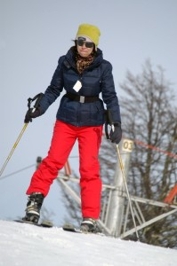 Eu tentando esquiar no Cerro Bayo