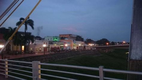 Calçadão em frente ao Mercado Velho, em Rio Branco