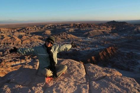 Por-do-sol no Vale da Lua, Deserto do Atacama