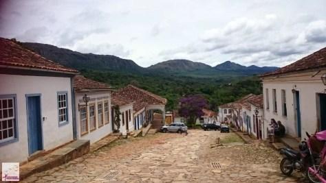 Tiradentes emoldurada pela belíssima Serra de São José