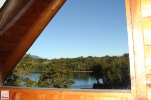 Vista da Cabanas Huitan-co, Villa la Angostura