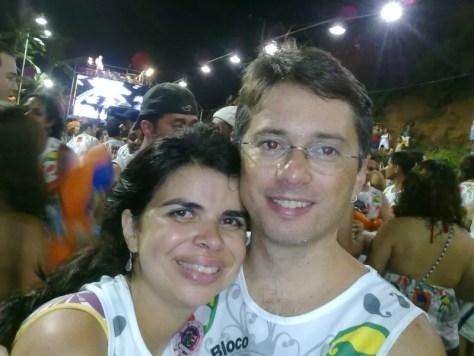 Eu e Bruno seguindo Ivete no bloco em Salvador
