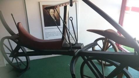 Primórdios da bicicleta, no Museu Rodas do Tempo, Pirenópolis