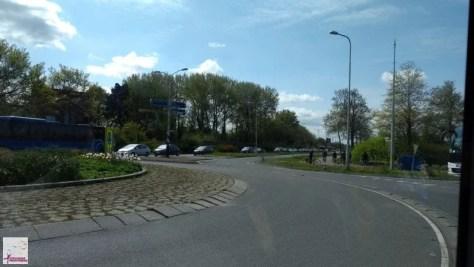 engarrafamento no caminho para Keukenhof
