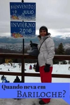 Quando neva em Bariloche?
