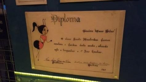 Diploma pré-escolar do Renato Russo