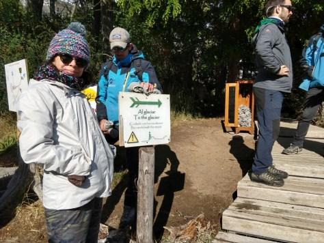 trilha para o mini trekking no Glaciar Perito Moreno, El Calafate