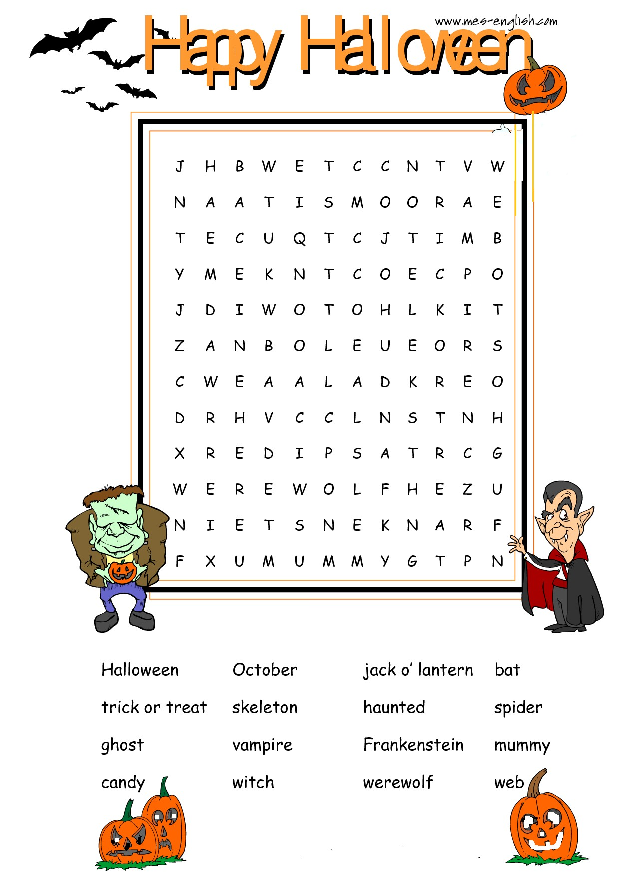 Halloweenworksheets Halloween Worksheets
