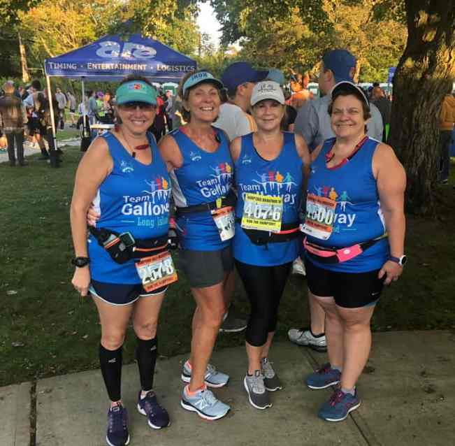 Hilary and friends doing the Hamptons Half Marathon