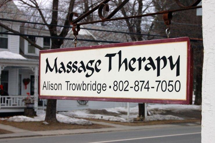 Alison Trowbridge Massage Therapy Newfane Vermont