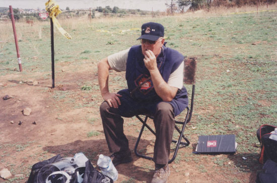 Sid taking break in minefield - Kosovo