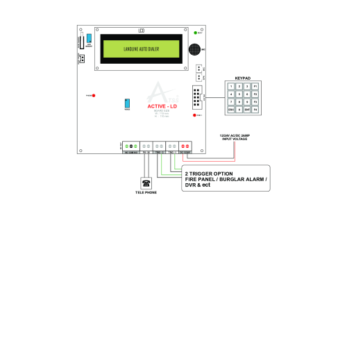burglar alarm product wiring diagram