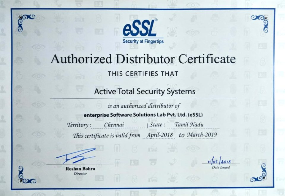 ESSL Authorised Distributor - ATSS-Active Total Security Systems