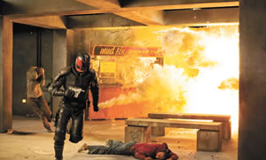 When justice is served things explode - Dredd 3D (2012)