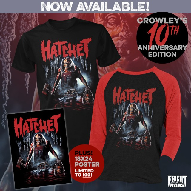 Hatchet 10th Anniversary Fright-Rags Merch