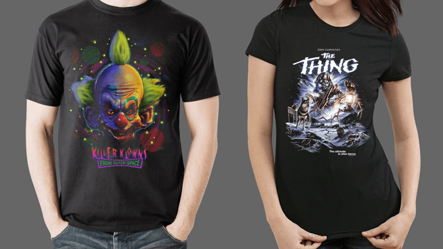 Fright-Rags' The Thing and Killer Klown from Outer Space Merchandise