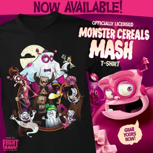John Carpenter's General Mills Monster Cereals Merchandise from Fright-Rags