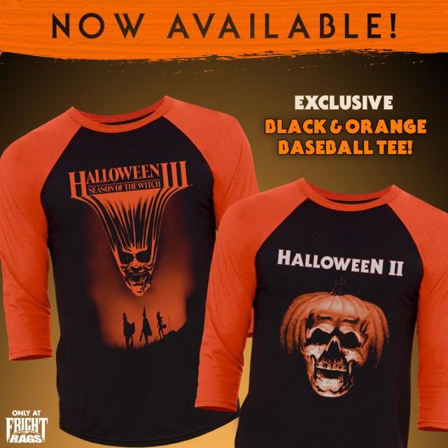 HALLOWEEN II and HALLOWEEN III: SEASON OF THE WITCH Merchandise from Fright-Rags