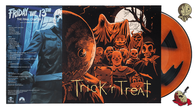 Waxwork Records Presents FRIDAY THE 13TH: THE FINAL CHAPTER and TRICK 'R TREAT Vinyl Soundtracks and Enamel Pins