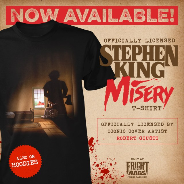 Stephen King's MISERY and CREEPSHOW Merchandise from Fright-Rags