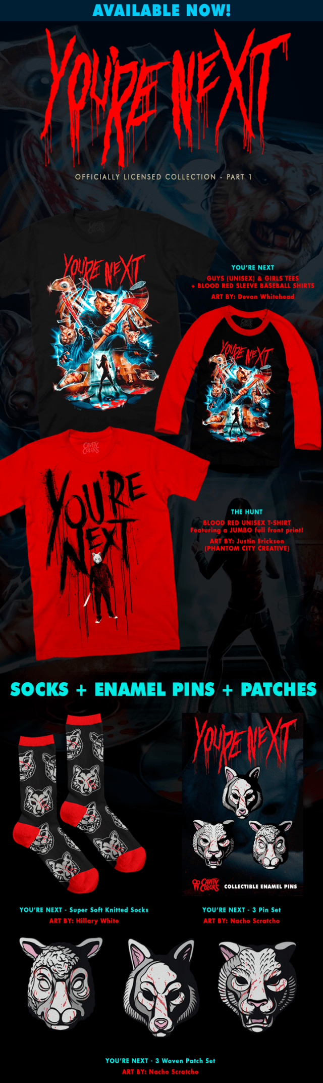 YOU'RE NEXT Collection: Part 1 Now Available from Cavity Colors