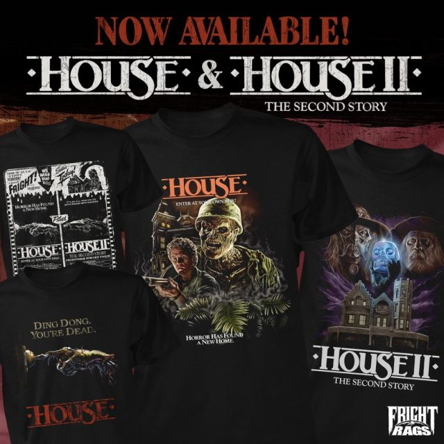 THE EVIL DEAD/EVIL DEAD 2, HOUSE/HOUSE II: THE SECOND STORY & THE WARRIORS Merchandise from Fright-Rags