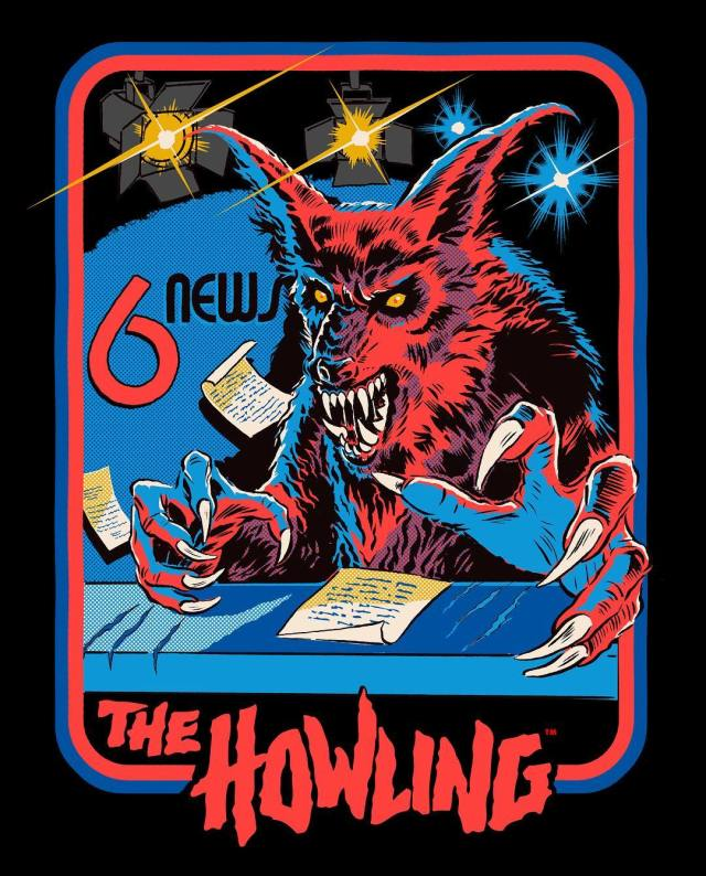 """THE HOWLING Collection Restocked + """"Newslady is a Werewolf"""" T-Shirt  Now Available from Cavity Colors"""