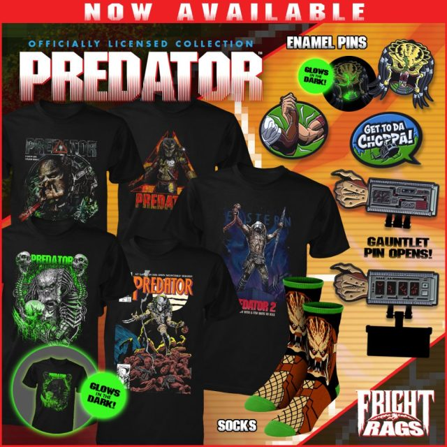 Get Haunted by POLTERGEIST, POLTERGEIST II: THE OTHER SIDE, THE AMITYVILLE HORROR & PREDATOR Merchandise from Fright-Rags