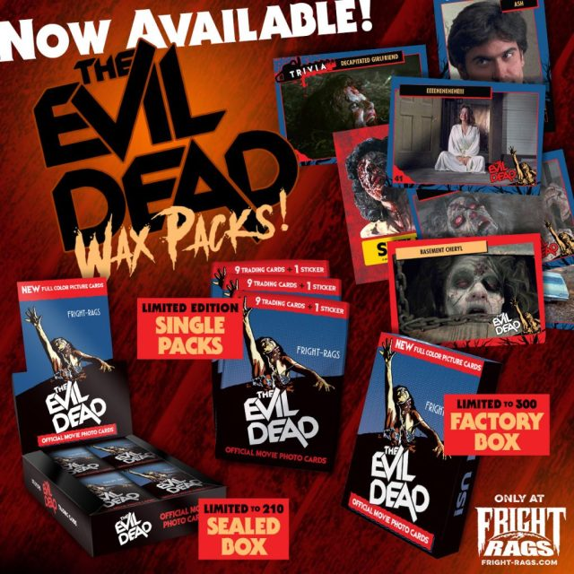 CREEPSHOW VHS-Inspired Box Sets & THE EVIL DEAD Trading Cards from Fright-Rags