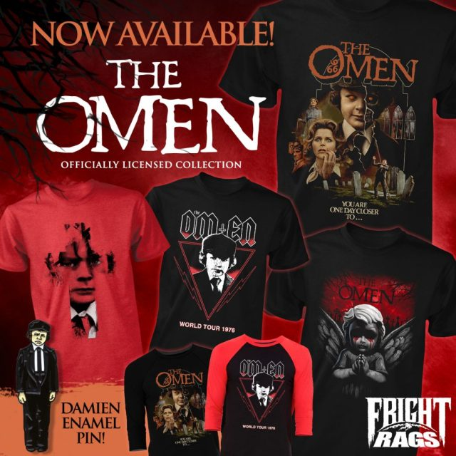 HAMMER, THE OMEN, & HAPPY DEATH DAY Apparel Summoned by Fright-Rags