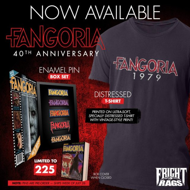 VESTRON VIDEO & FANGORIA 40th Anniversary Merchandise from Fright-Rags