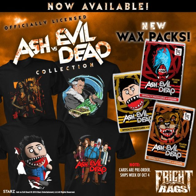 ASH VS. EVIL DEAD, TEXAS CHAINSAW MASSACRE, PET SEMATARY & THE WARRIORS Merchandise from Fright-Rags