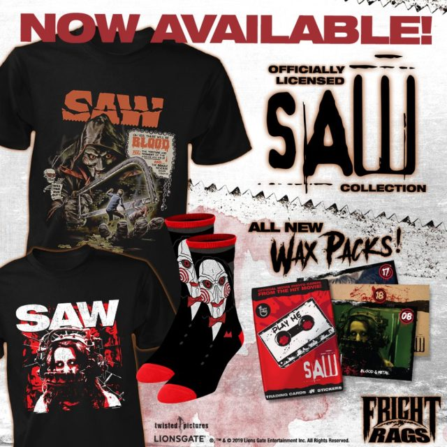 Fright-Rags Welcomes Fall with SAW & CANDY CORN Merchandise
