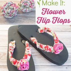 894ebb204 No Sew Embellished Flower Flip Flops Atta Girl Says