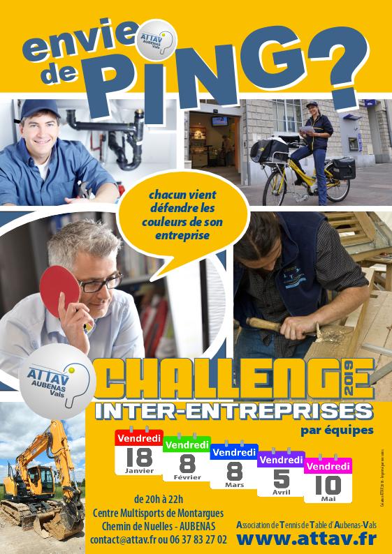 Envie de Ping - Challenge entreprises ATTAV 2019