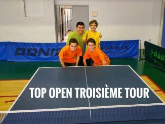 Top open Troisième tour 2019