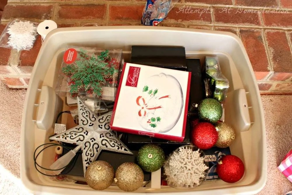 Image result for christmas decorations box