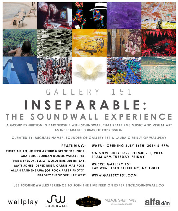 Jul  9pm Gallery 151 132w18 Inseparable The Soundwall Experience