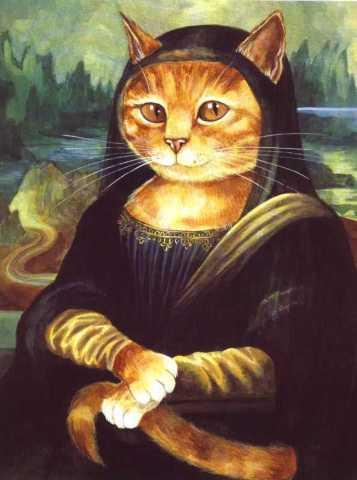 gatto arte gioconda