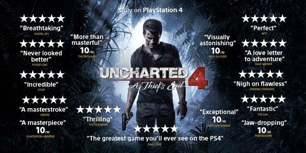Uncharted 4 score voti recensioni