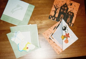 Place small napkins with little seasonal treasures inside at each student's place. Fun and attention-getting!